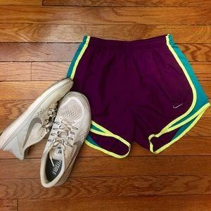 NWOT Purple/Teal/Volt Nike Running Shorts